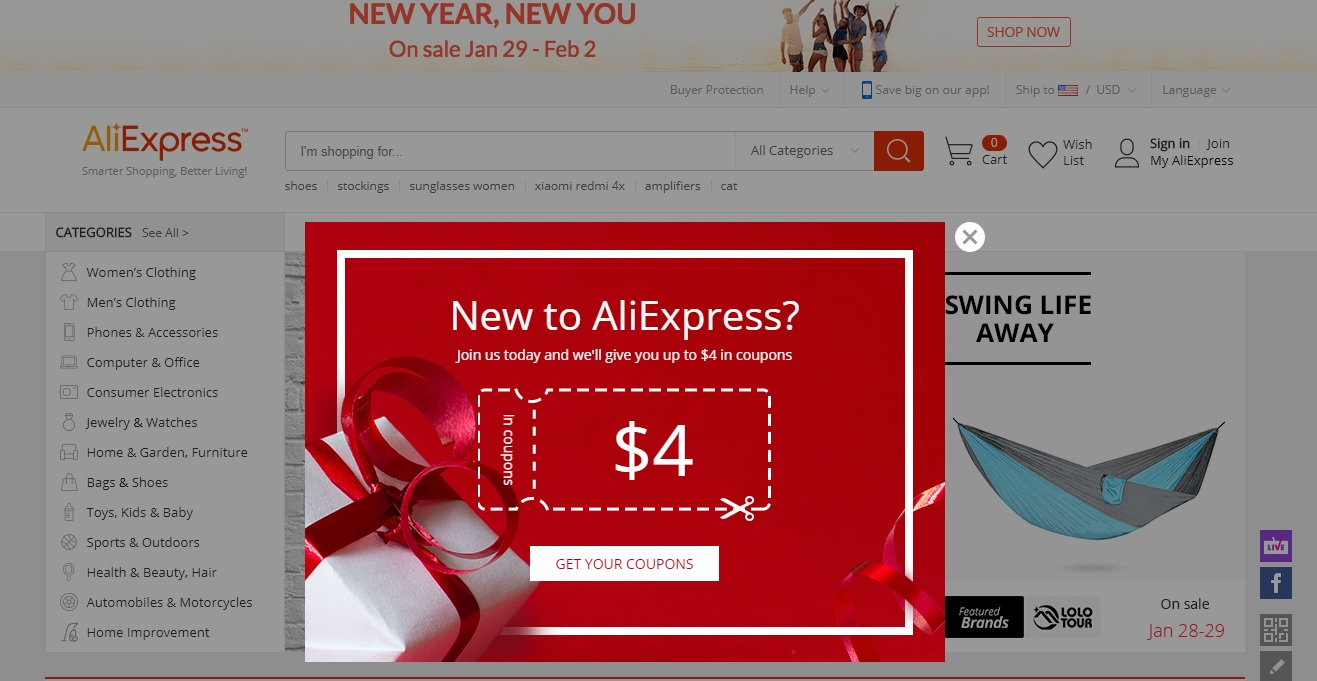 Aliexpress New Member Discount Code