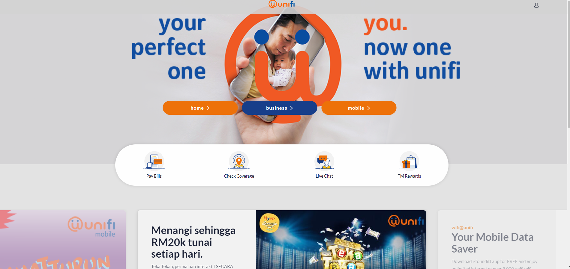 Unifi Homepage