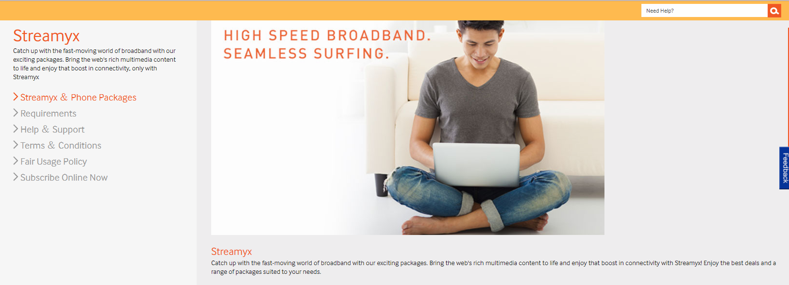 Streamyx broadband internet