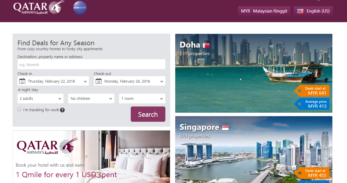 Qatar Airways Home