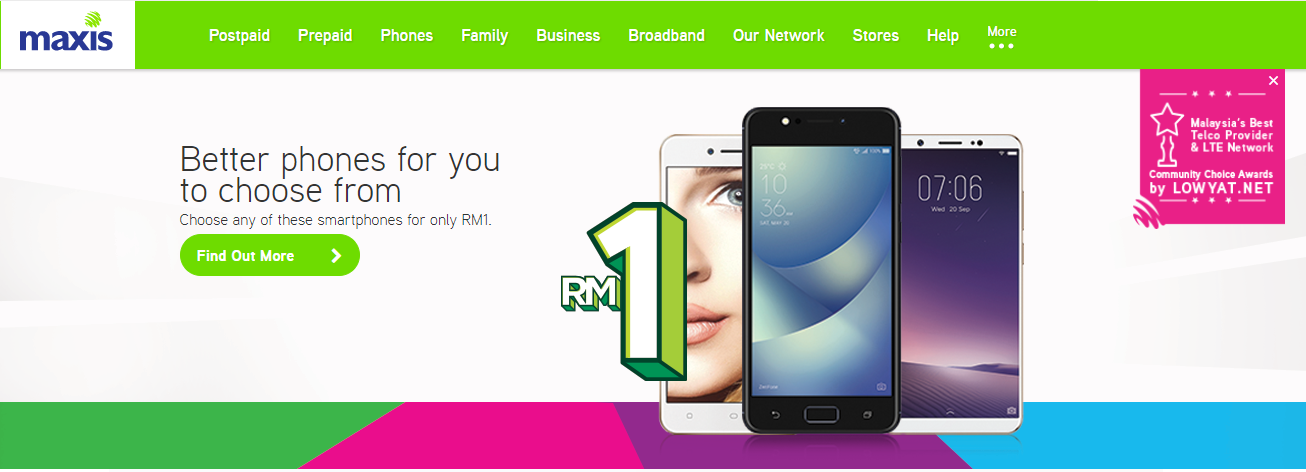 Maxis Homepage