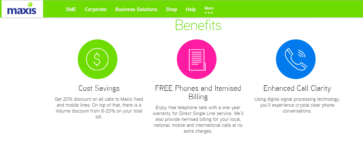 Maxis Telephone Services