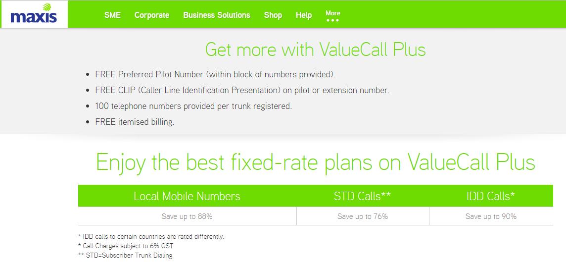 Maxis ValueCall Plus