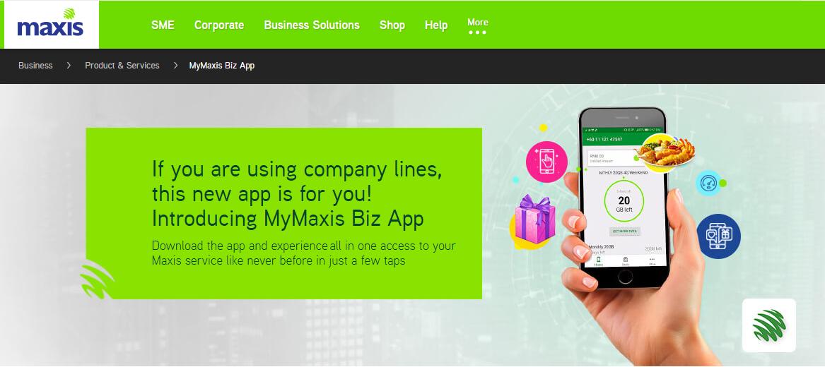 Maxis Biz App