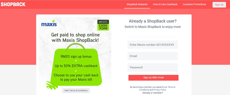 Maxis Shopback