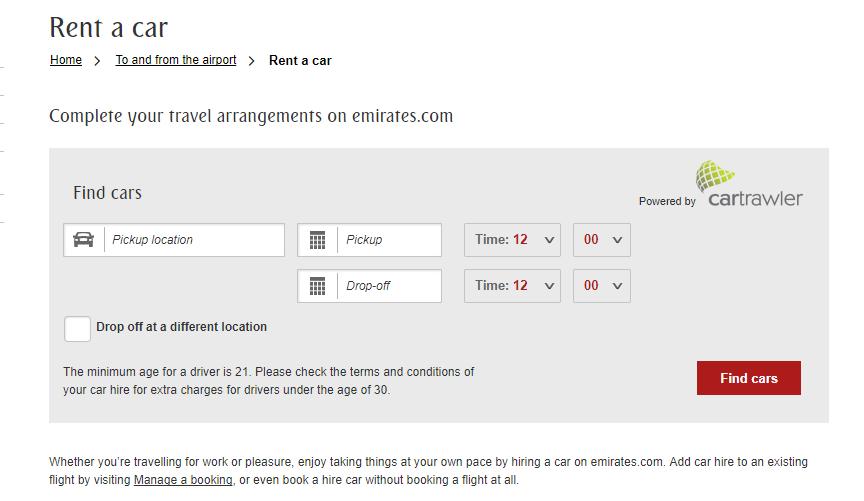 Emirates Flight Transfer