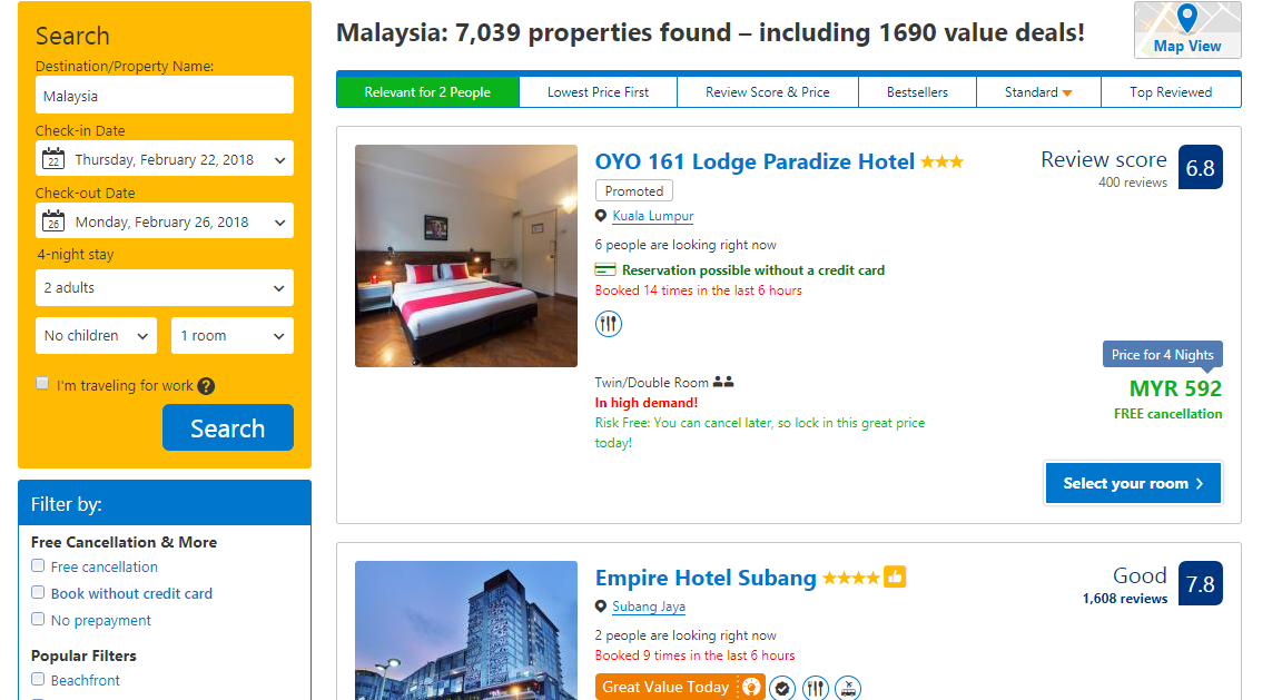 Booking.com Properties