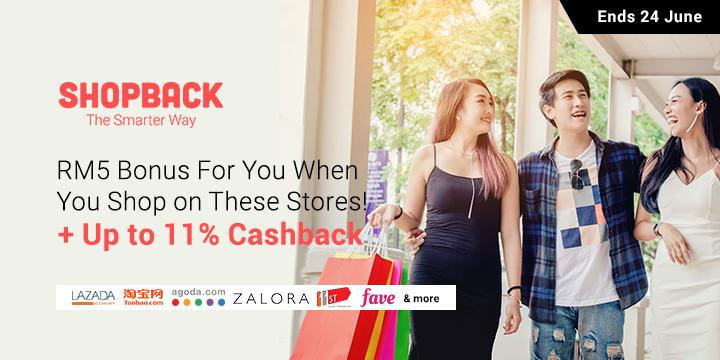RM5 Bonus Cashback - Deals