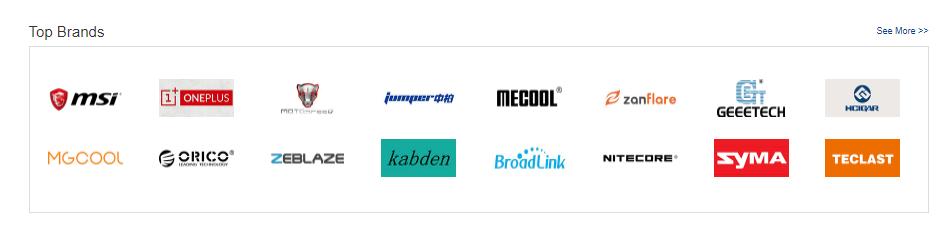 GearBest brands