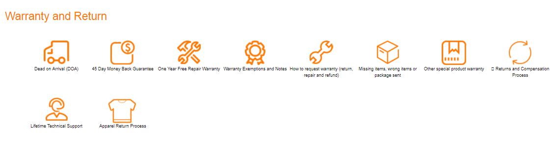 GearBest Warranty