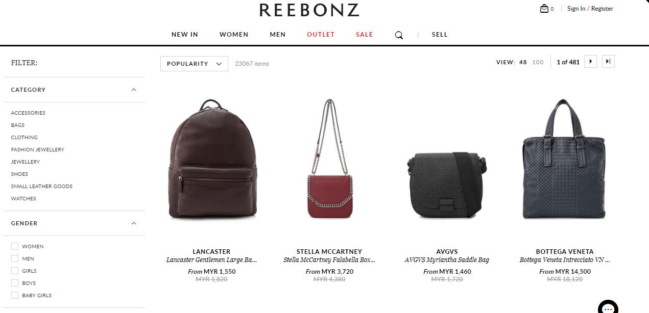 Reebonz Bags