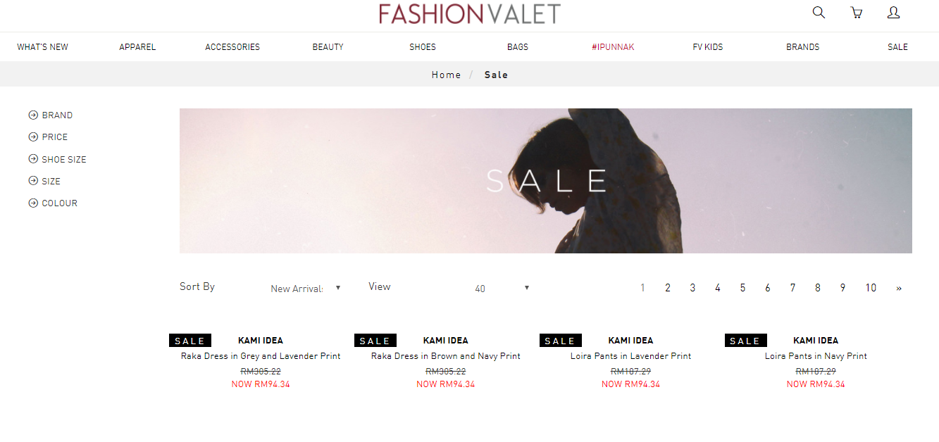FashionValet Sale