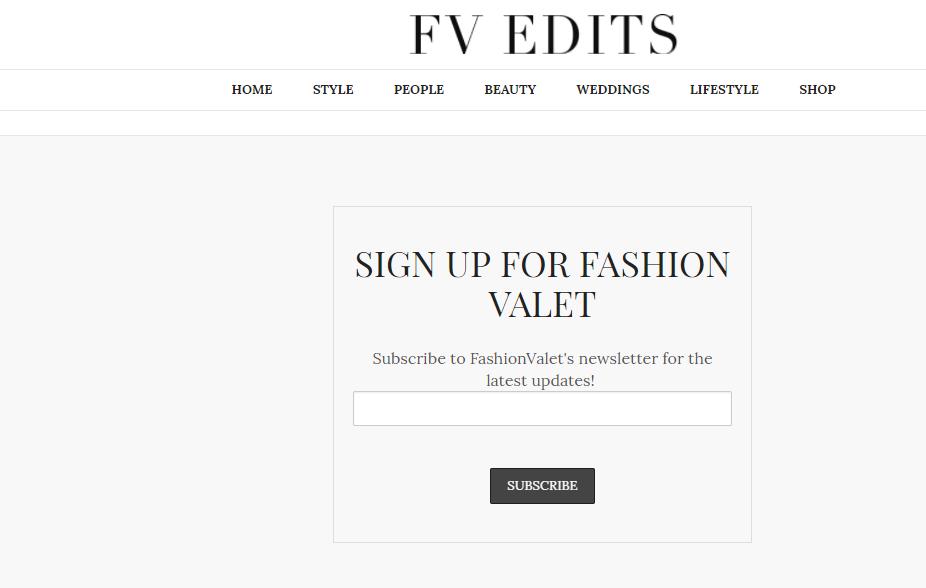 FashionValet Edits