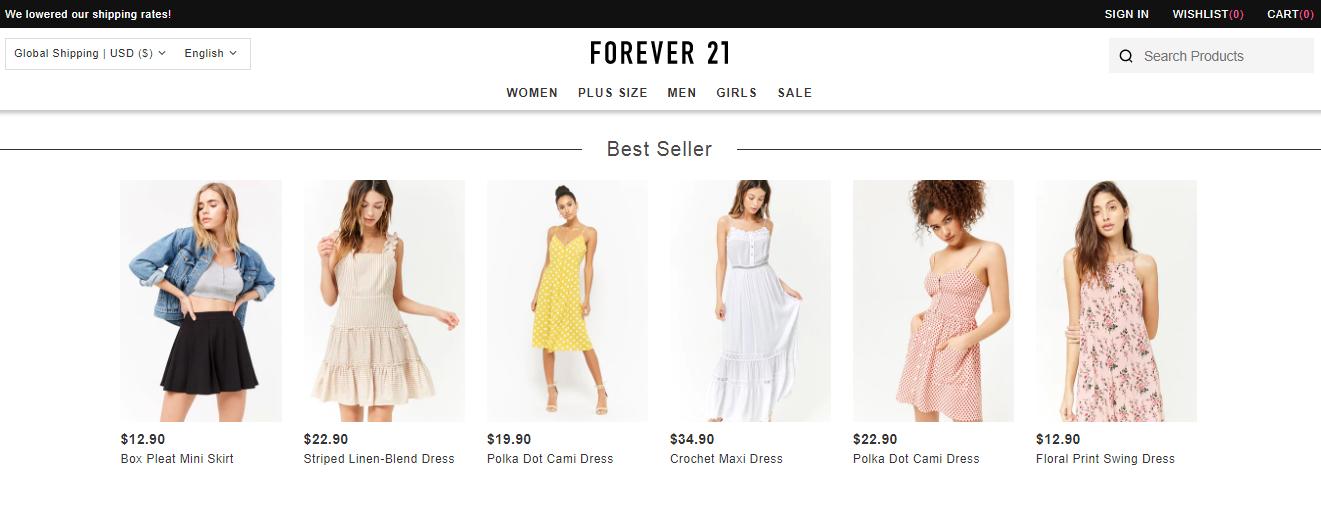 Forever 21 Styles
