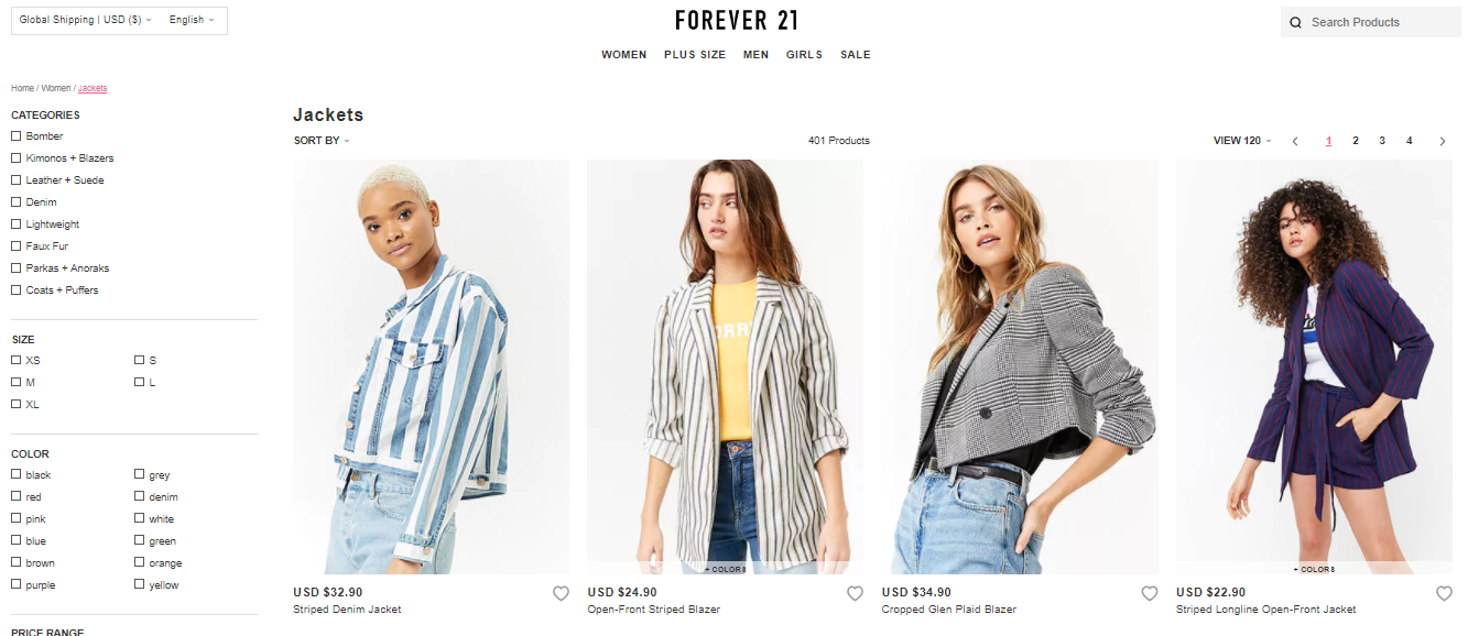 Forever 21 Jackets
