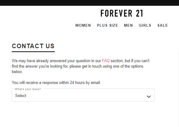 Forever 21 FAQ