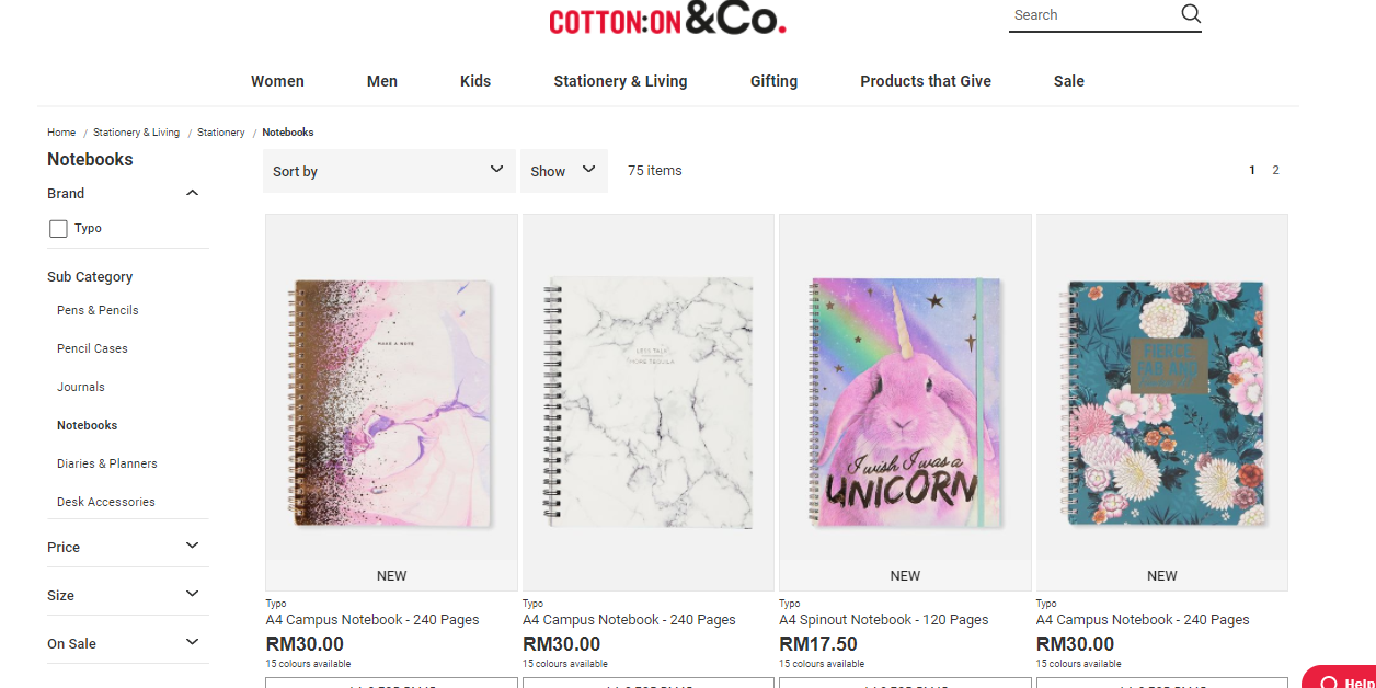 Cotton On Stationary