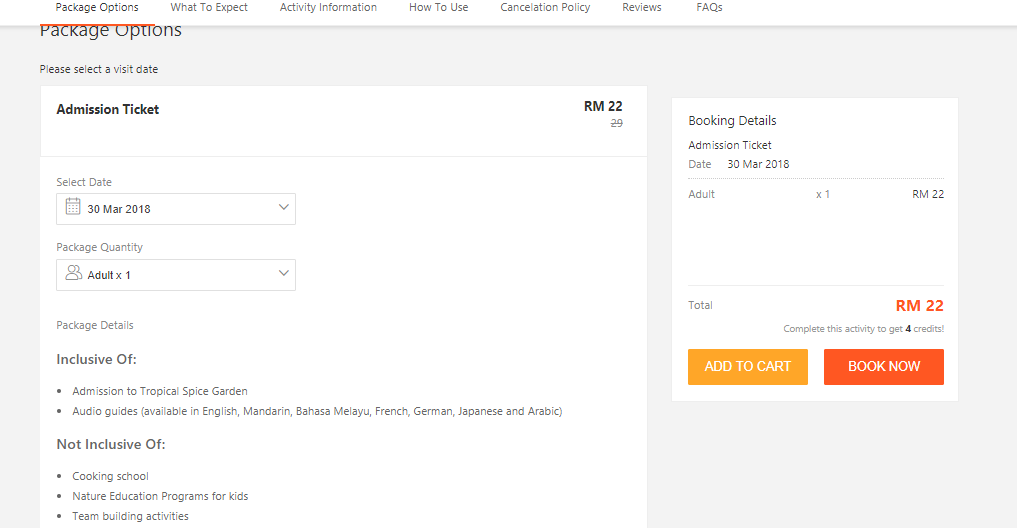 Klook Malaysia Checkout