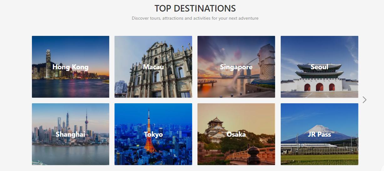 Klook Malaysia Destinations