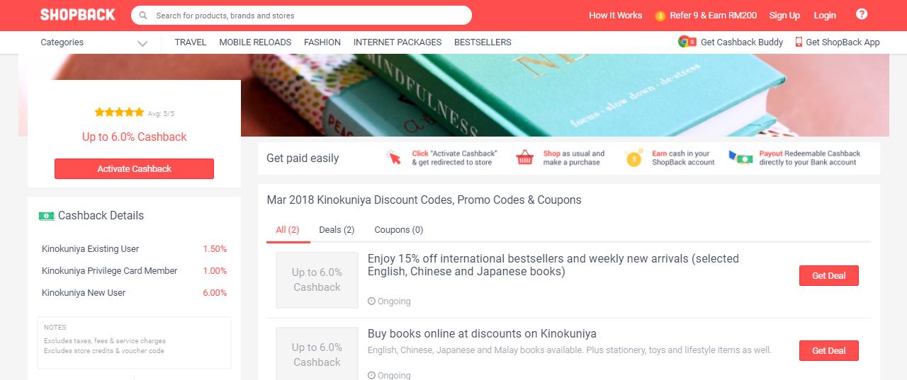 Kinokuniya Malaysia ShopBack