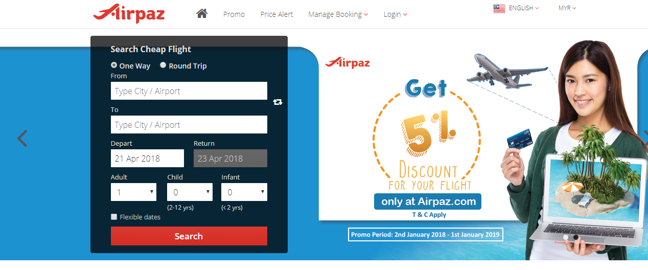 Airpaz booking
