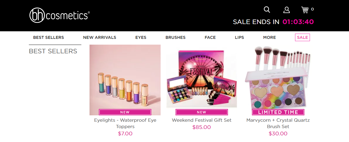 BH Cosmetics Best Sellers
