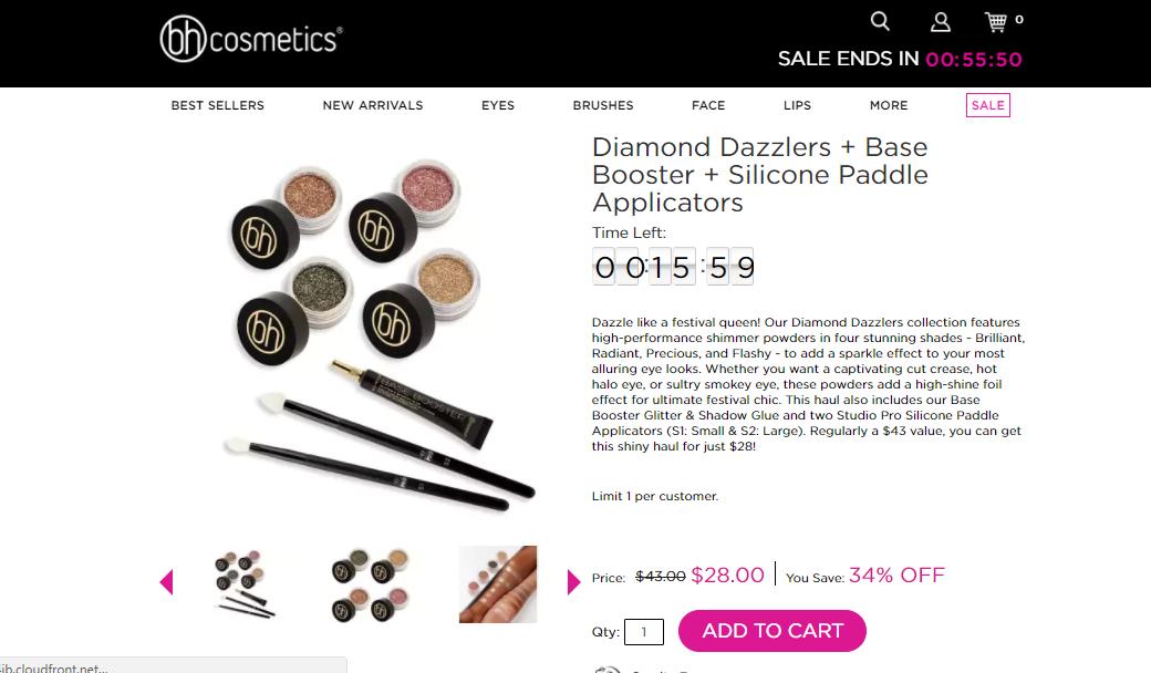 BH Cosmetics Discount