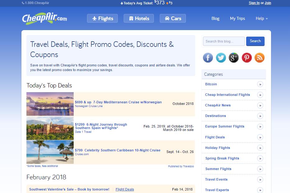 CheapAir Promo Codes