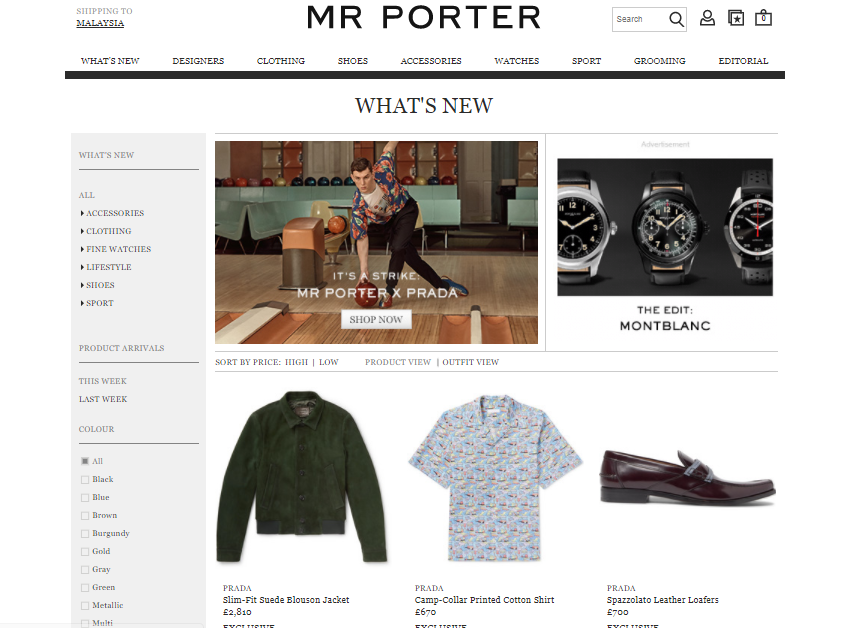 Mr Porter What's New