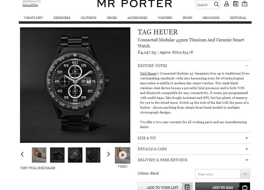 Mr Porter Tag Heuer