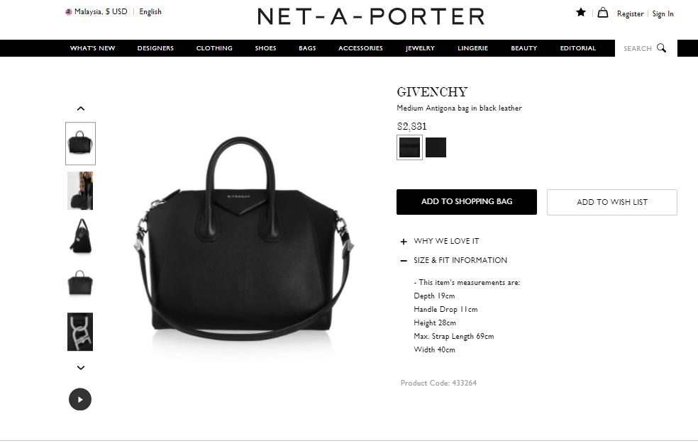 Net a porter Givenchy