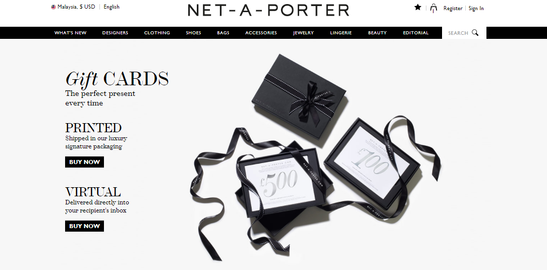 Net a porter gift cards