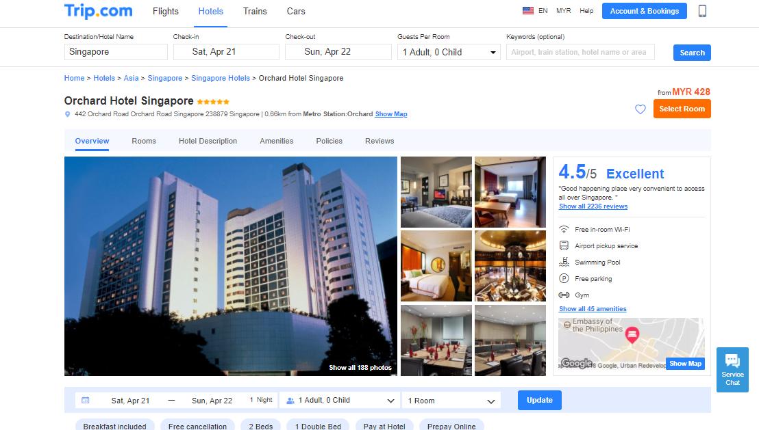 Trip.com Orchard Hotel Singapore