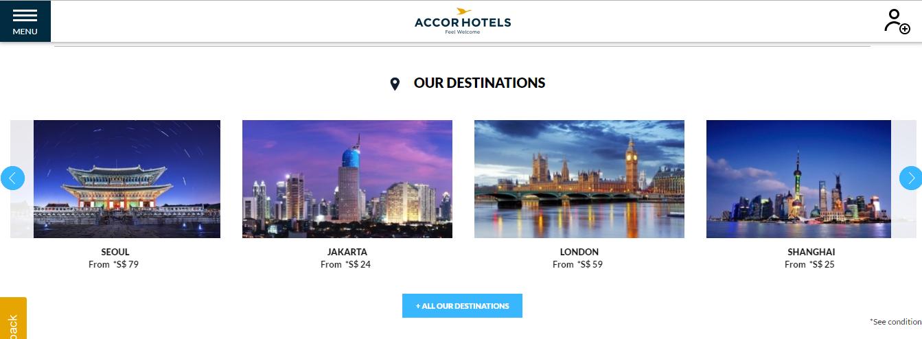 Accor Hotels Destinations