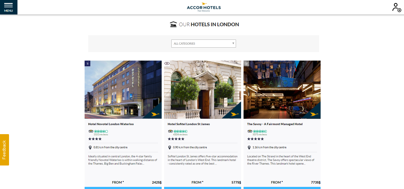 Accor Hotels in London