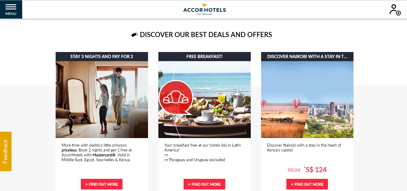 Accor Hotels Deals and Offers