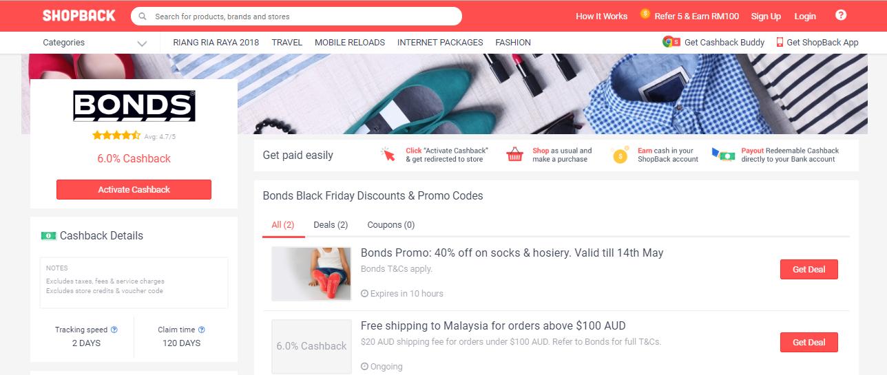 Bonds ShopBack Malaysia