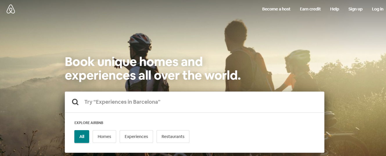 AirBnB Homes and Experiences