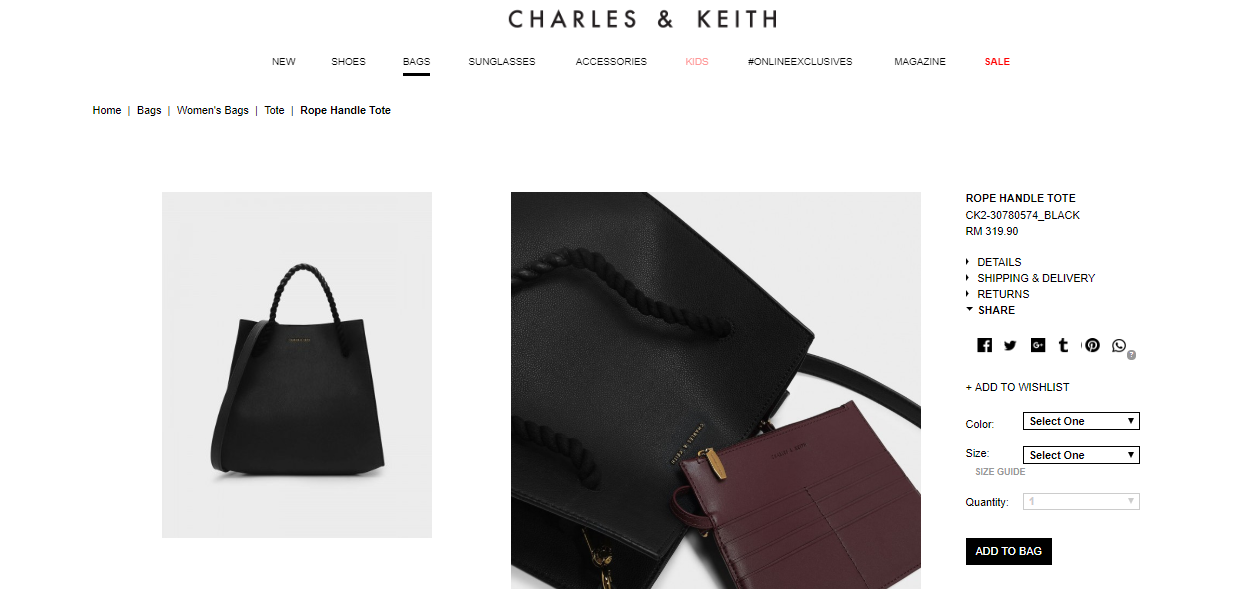 Charles and Keith Selection