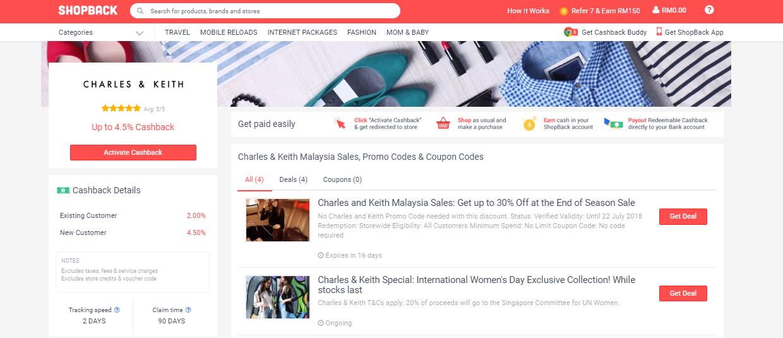 Charles and Keith Malaysia ShopBack Malaysia
