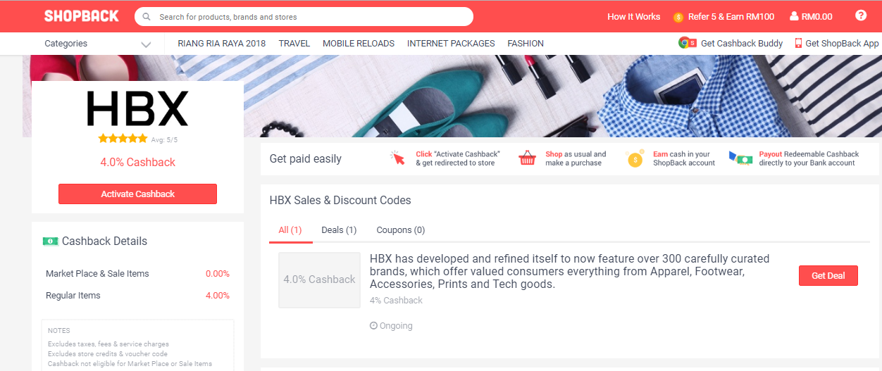 HBX ShopBack Malaysia