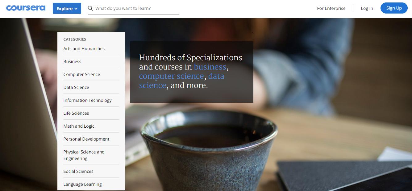 Coursera Courses Explore