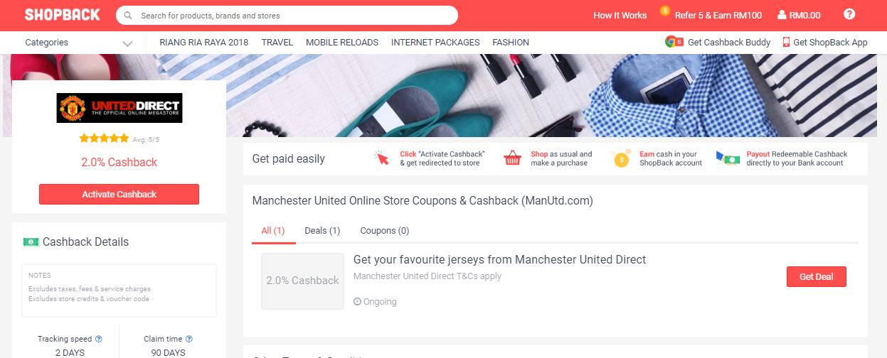 Manchester United ShopBack