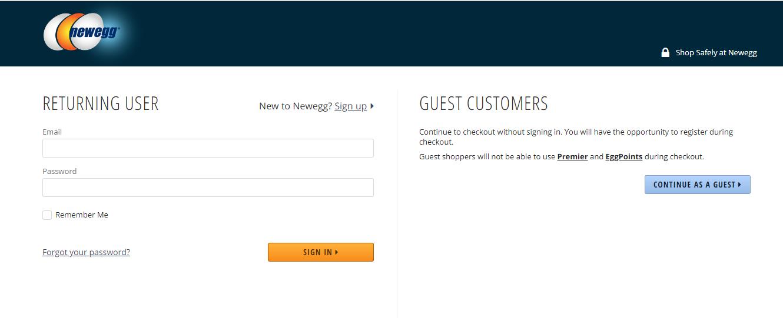 Newegg Returning User