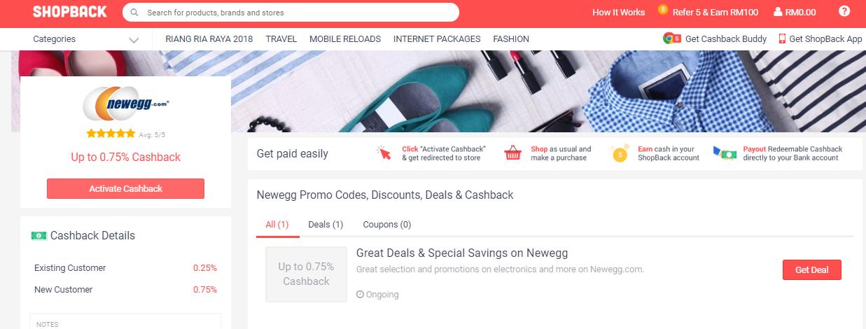 Newegg ShopBack