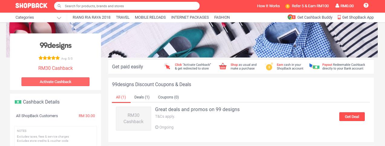 99designs ShopBack Malaysia