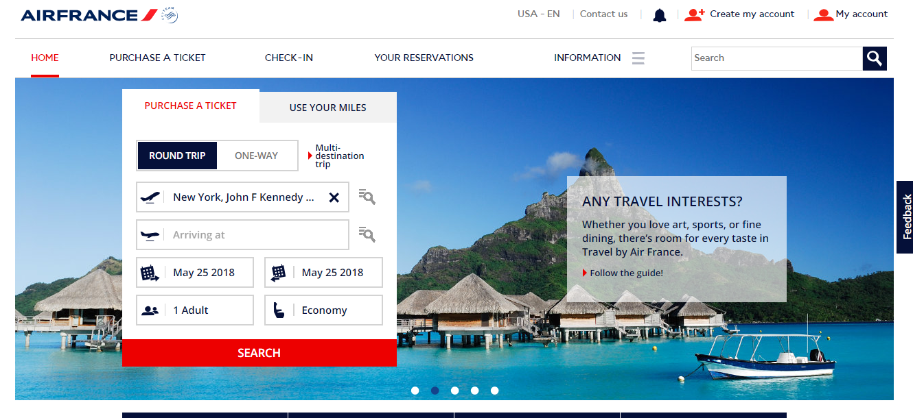 Air France Purchase Tickets