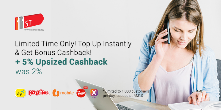 5% Bonus Cashback with every reload!