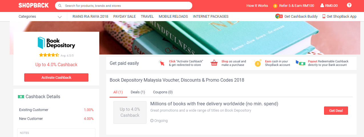 Book Depository ShopBack Voucher, Discounts and Promo Codes