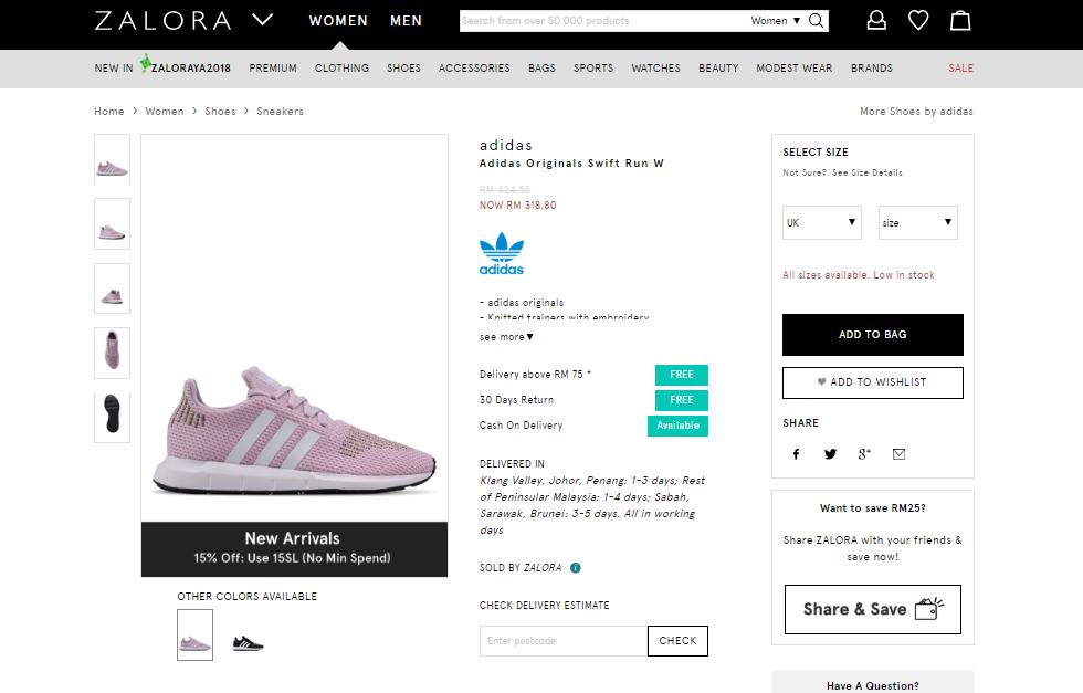 Adidas Zalora Product Listing